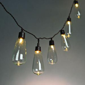 10-Light Solar Warm White Rocket LED Light String-92882 206532812