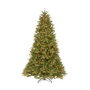 12 ft. FEEL-REAL Downswept Douglas Fir Artificial Christmas Tree with 1200 Clear Lights-PEDD4-312-120 204153721