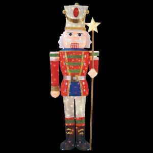 5 ft. Pre-Lit Tinsel Nutcracker Soldier-TY315-1314 204357769