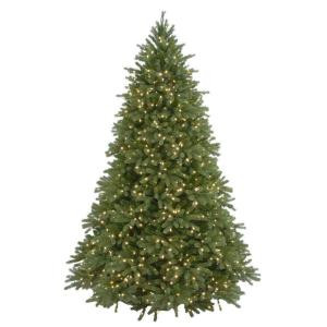 6.5 ft. Feel-Real Jersey Fraser Fir Artificial Christmas Tree with 800 Clear Lights-PEJF4-300-65 205982760