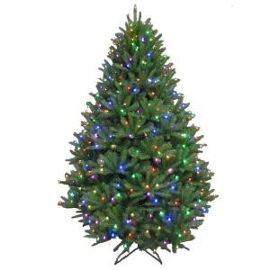 7.5 ft. Pre-Lit LED California Cedar Artificial Christmas Tree with Color Changing RGB Lights-2214101-CHO 206771079
