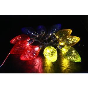 Alpine 10-Light LED Light Bulbs with Multi-Color Decorative String Lights (Set of 10)-EUT100MC-10 207140328
