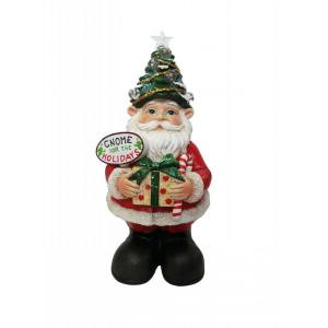 Alpine 12 in. Christmas Gnome Status with Color Changing LED Lights-ZEN210S 207140374