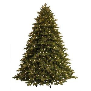 GE 7.5 ft. Just Cut Norway Spruce EZ Light Artificial Christmas Tree with 800 Color Choice LED Lights-20781HD 205914076