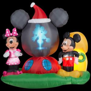 Gemmy 6.5 ft. H Panoramic Projection Inflatable Mickey Mouse's Clubhouse Scene-37631 205919900