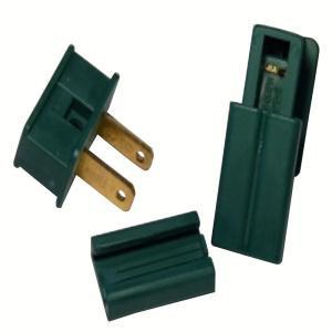 Green Male Slide-On Plug (Pack of 100)-14-330 100652709