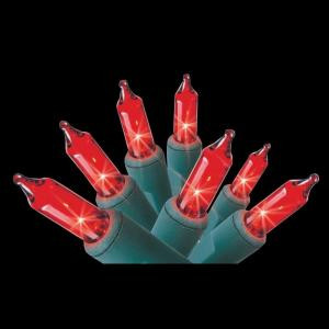 Home Accents Holiday 100-Light Red Mini Light Set-100L-GR-R 203282798