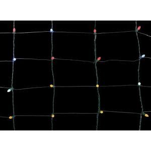 Home Accents Holiday 150-Light Dome LED Multi-Color 24 in. x 72 in. Net Light Set-TY413-1615 206806069