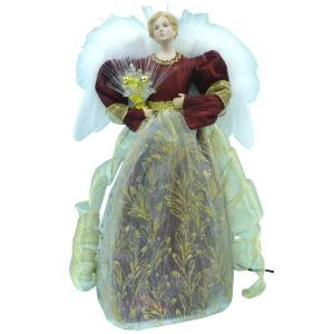 Home Accents Holiday 18 in. LED Red Fiber Optic Angel-A-7070D 206954356