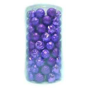 Home Accents Holiday 2.3 in. Shatter Proof Ornament Purple (101-Piece)-C-16068E 206954302