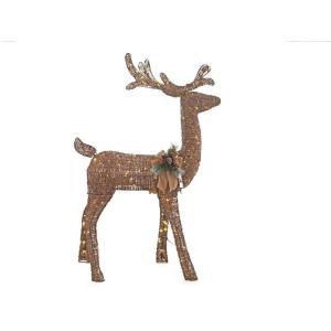 Home Accents Holiday 5 ft. Pre-Lit Grapevine Animated Standing Deer-TY454-1511-0 205983394
