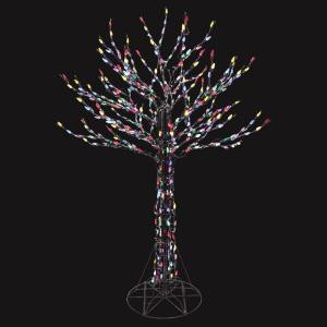 Home Accents Holiday 6 ft. LED Deciduous Tree Sculpture with Multi-Color Lights-7407200UHO 205079238