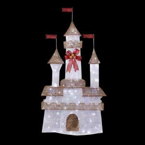 Home Accents Holiday 6 ft. Pre-Lit Twinkling Castle-TY373-1411 205092257