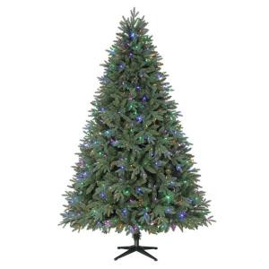 Home Accents Holiday 7.5 ft. Harrison Fir Quick-Set Artificial Christmas Tree with 550 Color Choice LED Lights and Remote Control-TG76P3945D01 205915413