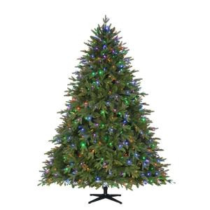 Home Accents Holiday 7.5 ft. Pre-Lit LED Monterey Fir PE Quick-Set Artificial Christmas Tree with 700 Color Choice Lights and Remote Control-TG76P4740D00 206770993