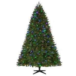 Home Accents Holiday 7.5 ft. Pre-Lit LED Sierra Nevada PE/PVC Quick-Set Artificial Christmas Tree with 8 Functions Color Changing Lights-TG76P3A38D00 206771000
