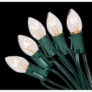 Home Accents Holiday C7 25-Light Clear Color Incandescent Light String-W11C0053 205919400