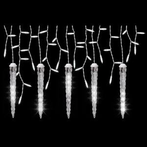 LightShow 5-Light White Icicle String Light Set with Shooting Star Icicles-88531 204070191