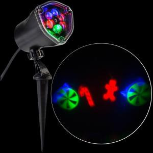 LightShow LED Projection-Whirl-a-Motion-Candy Cane Mix RRGB Stake Light-80751 206768258