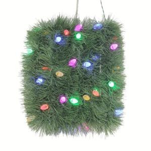 Martha Stewart Living 18 ft. Artificial Roping Garland with 50 Color Choice LED Lights-GII0NB007D00 203995454