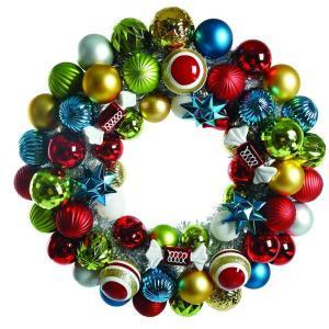 Martha Stewart Living 24 in. Alpine Holiday Artificial Christmas Wreath-T1215-180 207010844