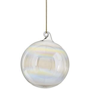 Martha Stewart Living 3 in. Iridescent Bubble Gum Ornament-9323300420 300242267