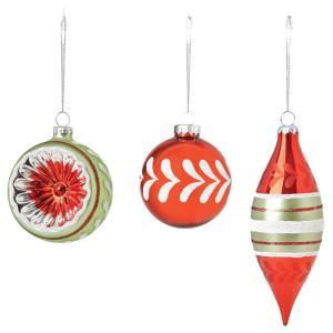 Martha Stewart Living 3.25 Vintage Style Christmas Ornaments (Set of 12)-9735900110 300265615