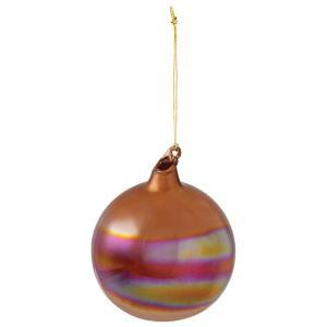 Martha Stewart Living 4 in. Burnished Gold Bubble Gum Ornament-9323310530 300242248