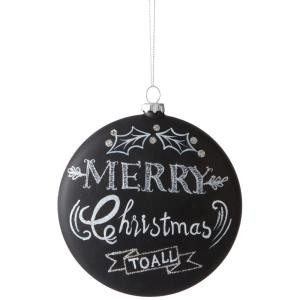 Martha Stewart Living 4.75 in. Collectible Chalkboard Christmas Ornament-9736000210 300265677