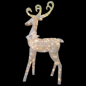National Tree Company 60 in. Reindeer Decoration with Clear Lights-DF-100064U 205577223