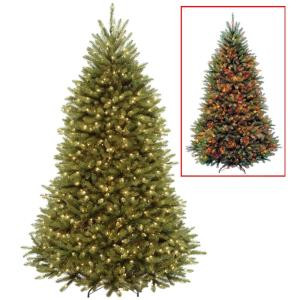 National Tree Company 7.5 ft. PowerConnect Dunhill Fir Artificial Christmas Tree with Dual Color LED Lights-DUH3-D30-75 207183148