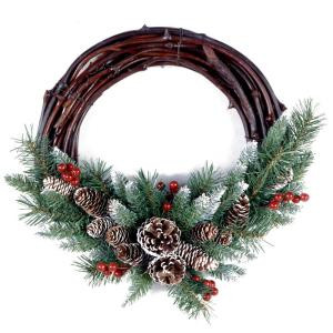 National Tree Company Frosted Berry Grapevine 26 in. Artificial Wreath-FRB-16GV-1 300182825