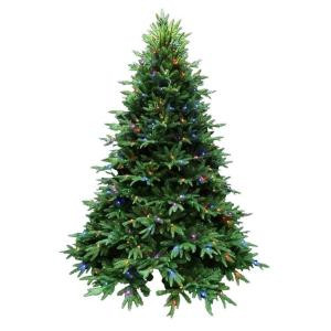 Santa's Best 7.5 ft. Splendor Spruce EZ Power Artificial Christmas Tree with 660 42-Function LED Lights and Remote Control-2245001HO 205079479