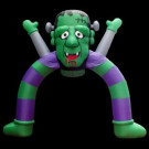 120 in. W x 40 in. D x 144 in. H Inflatable Halloween Archway Monster with Disco Lights-GTH00066-12C 206869150