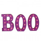 14 in. H Battery Operated Metal BOO Sign-2211690 206508925