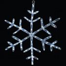 18 in. 20 LED White Tube Snowflake Light-46-724-00 204635314
