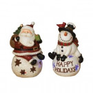 18.5 in. H Battery Operated Resin Holiday Friend Figurines (Set of 2)-2221400 206642678