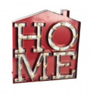 20 in. H LED Metal House HOME Sign-92897 206636462