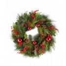 24 in. Mixed Pine Hampton Artificial Wreath-2207950 206634287