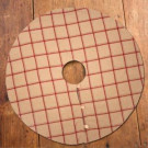 47 in. Tan and Red Flannel Tree Skirt-967063 206660150