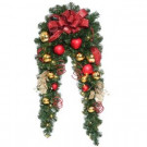 6 ft. Decorative Collection Artificial Mantle Garland with 50 Clear Lights-DC3-161L-6B 206101257