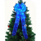 9 in. 36-Light LED Blue Ribbon Bow-RB33-B009-A 202371856