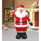 Airflowz 7 ft. Inflatable Animated Blinker Santa-07847 206996183