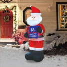 Airflowz 7 ft. Inflatable Electronic Countdown Sign with Santa-74665 206996259