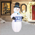 Airflowz 7 ft. Inflatable Electronic Countdown Sign with Snowman-74670 206996264
