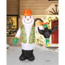 Airflowz 7 ft. Inflatable Hunting Snowman-73501 206996193