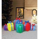 Airflowz 8 ft. Inflatable Row of Presents Non Metallic-80566 206996242