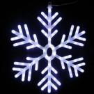 Alpine 25 in. 102-Light White LED Hanging Snowflake Decor-CAD110WT 205748911