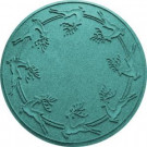 Aqua Shield Aquamarine 35 in. Round Reindeer Run Under the Tree Mat-20648633535 206317280