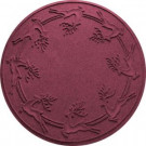 Aqua Shield Bordeaux 35 in. Round Reindeer Run Under the Tree Mat-20648603535 206317276